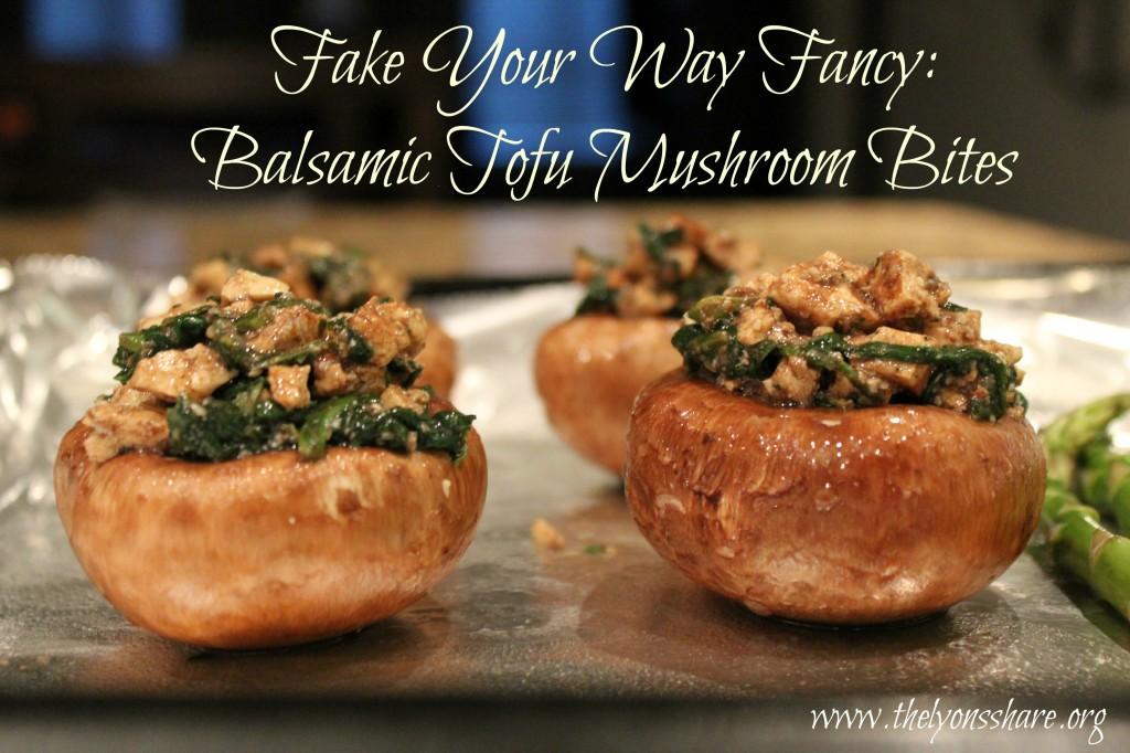 Balsamic Tofu Mushroom Bites