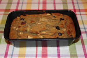 healthy banana apple blueberry bread