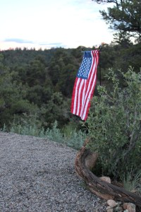 American flag at the ranch