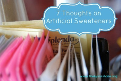 artificial sweeteners thelyonsshare