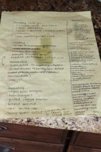 my planning list