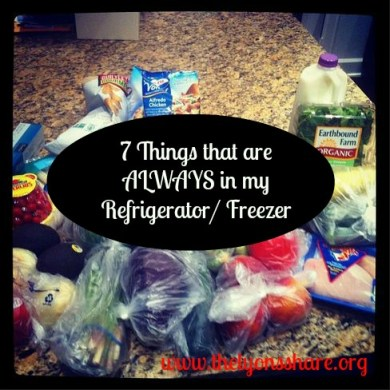 7 things that are always in my refrigerator thelyonsshare