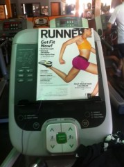 magazine at gym