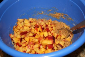 peaches added to batter