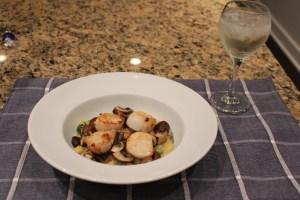 scallops and polenta