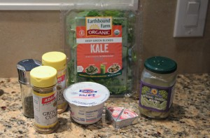 healthy kale artichoke dip ingredients