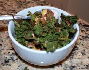 kale granola bowl