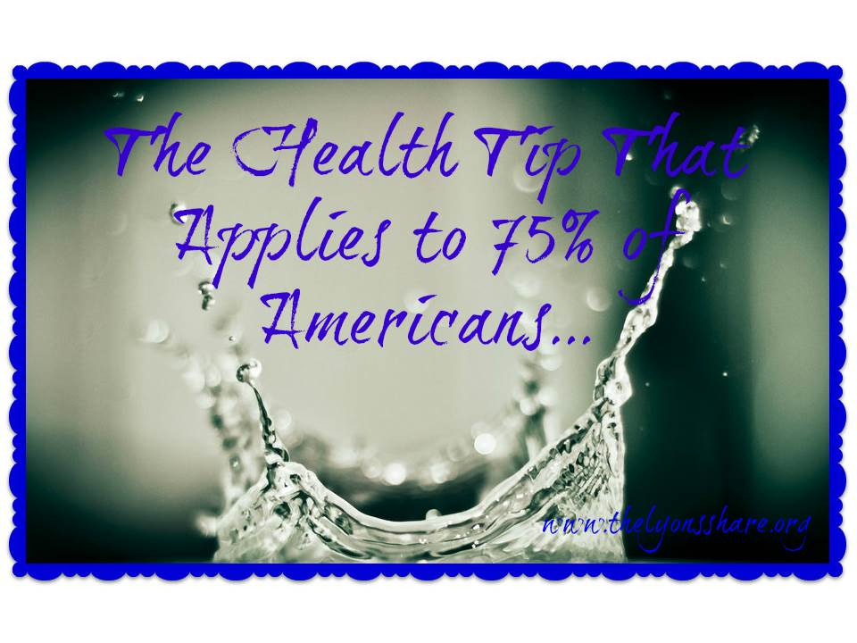 Water Health Tip