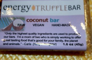 coconut bar and saying