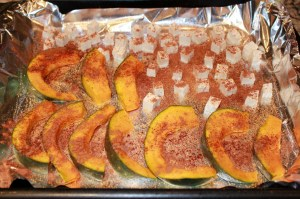 kabocha and tofu with spices