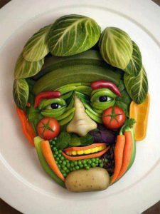 fruit vegetable face