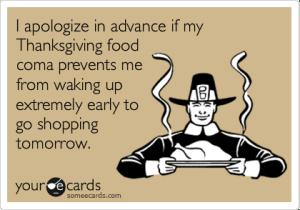 thanksgiving food coma