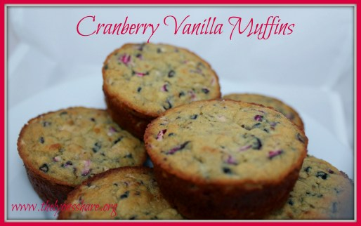 cranberry vanilla muffins The Lyons Share