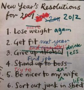 new years resolutions funny