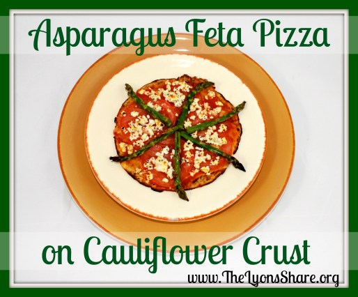 Asparagus Feta Pizza