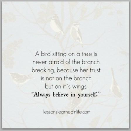 believe in yourself - blog 2.3.14