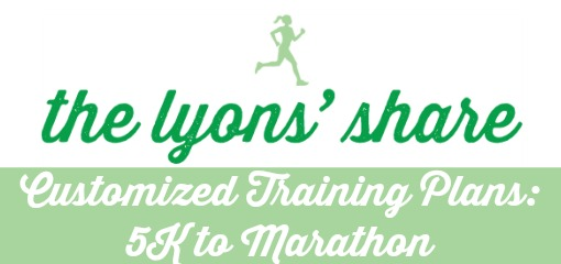 The Lyons' Share Customized Training Plans