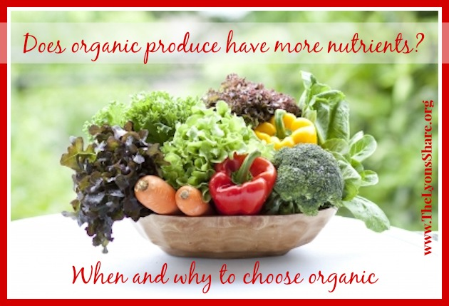 when and why to choose organic from the lyons share