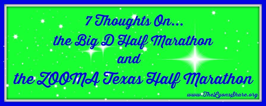 7 thoughts on big d half marathon and zooma texas half marathon