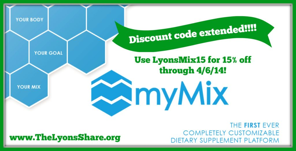 mymix discount extended