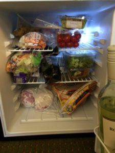 refrigerator at hotel