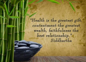 health is the greatest gift