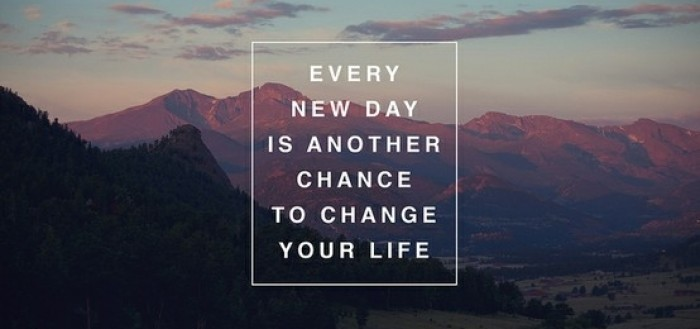 every day is a new chance - 9.15.14 post
