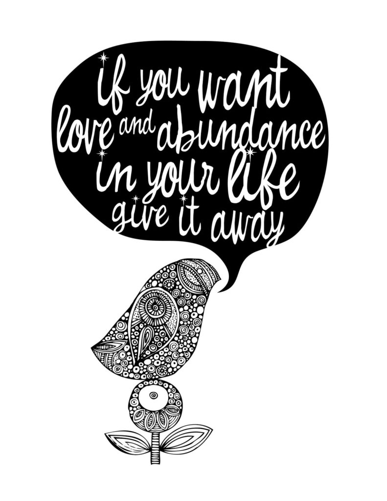 give love and abundance