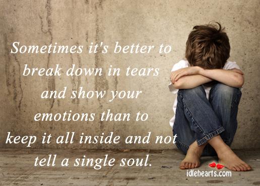 break down in tears
