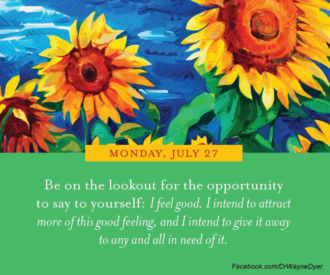 feel good and give it away quote wayne dyer