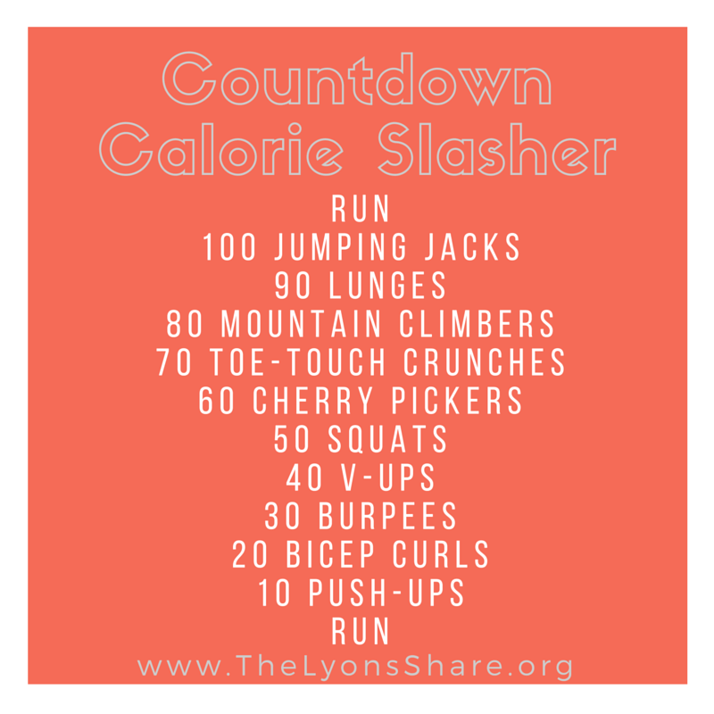 countdown calorie slasher workout