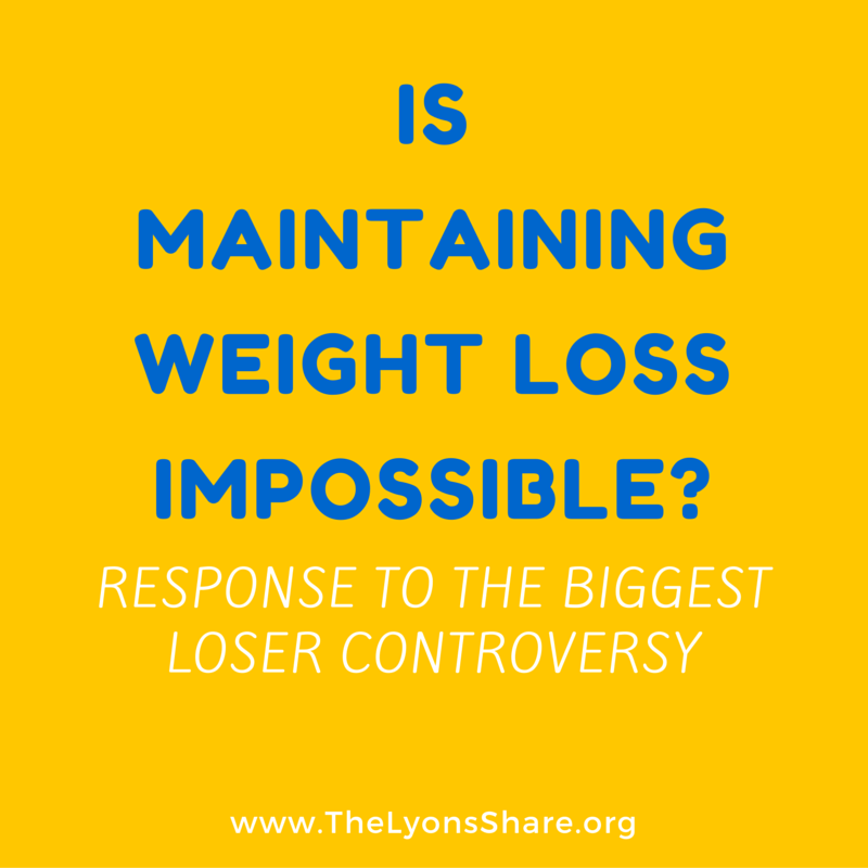 is maintaining weight loss impossible