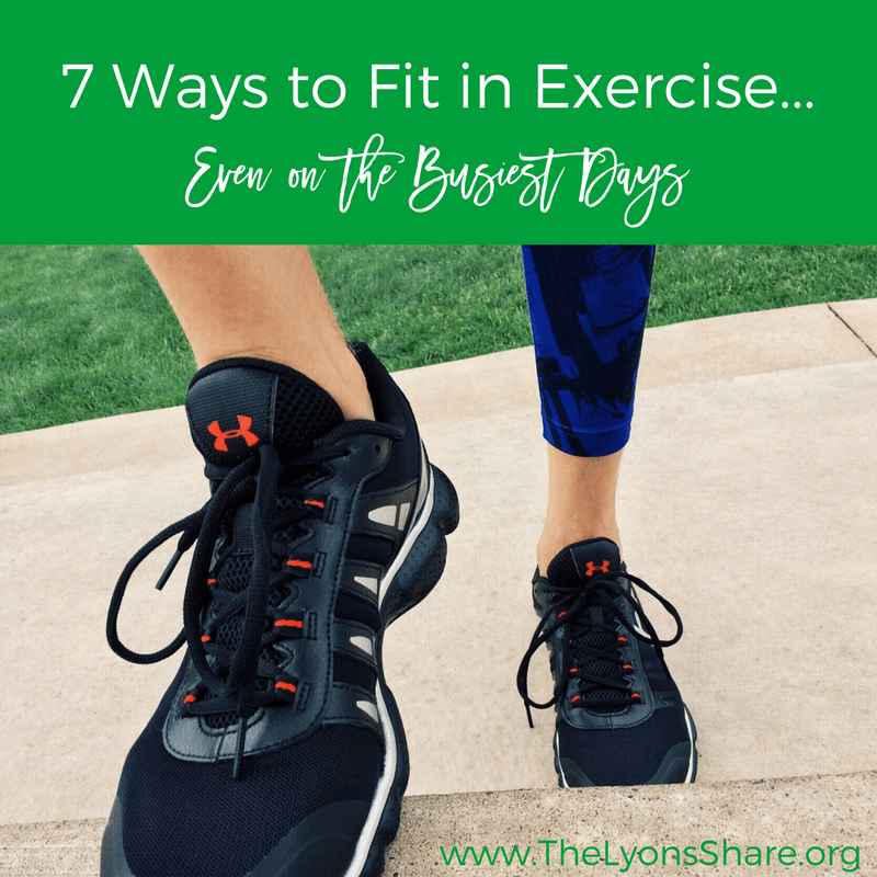 7 tips to fit in exercise even on the busiest days