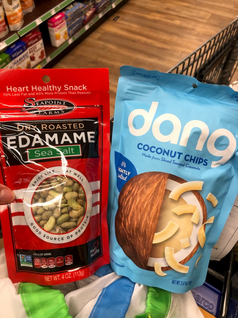 Edamame and dang coconut chips