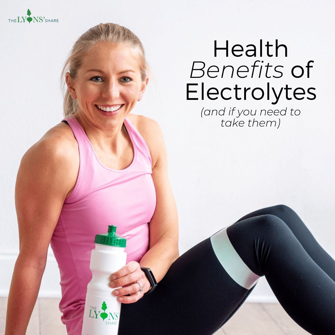 Health Benefits of Electrolytes (and if you need to take them)
