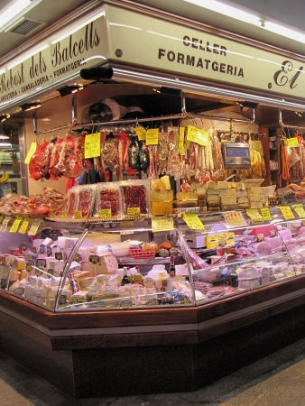 Santa Caterina Market in Barcelona, Spain