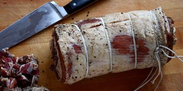 Pancetta Italian cured bacon