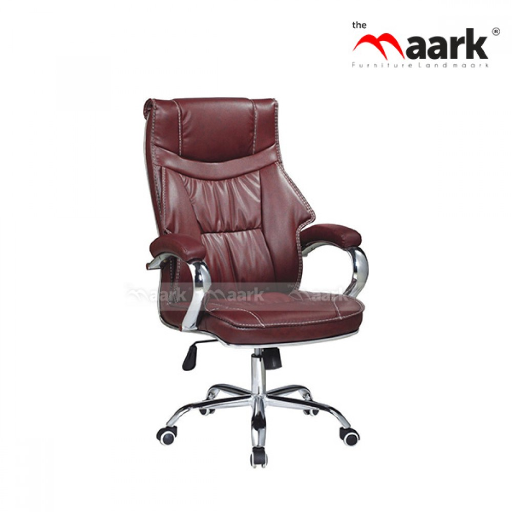 revolving chair rate officemax ergonomic buy md office online store themaark upholdered brown