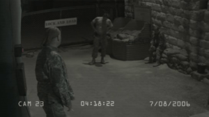 Un frame ripreso dalle videocamere di sicurezza