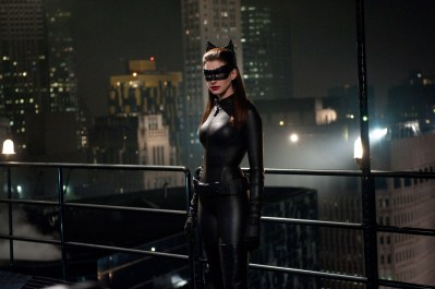 """ANNE HATHAWAY as Selina Kyle in Warner Bros. Pictures' and Legendary Pictures' action thriller """"THE DARK KNIGHT RISES,"""" a Warner Bros. Pictures release. TM & © DC Comics."""