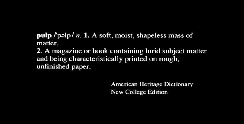 Pulp Fiction Frasi.Pulp Fiction American Heritage Dictionary The Macguffin