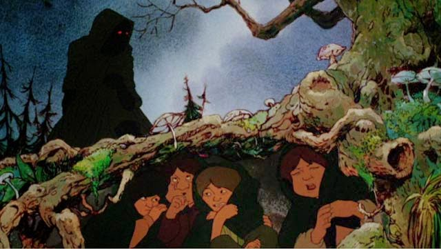 hobbit e cavaliere nero il signore degli anelli 1978