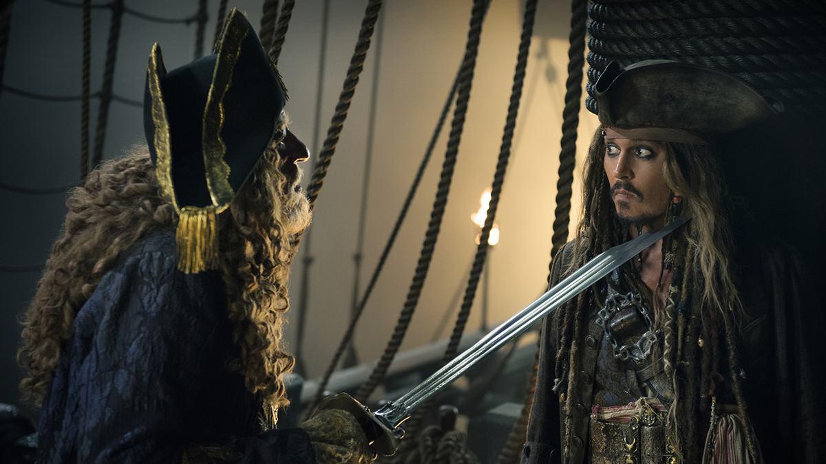 pirati dei caraibi pirates of the caribbean vendetta salazar dead men tell no tales johnny depp jack sparrow barbossa javier bardem geoffrey rush