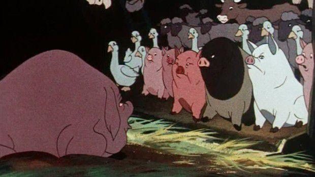 La fattoria degli animali george orwell e un cartone che non