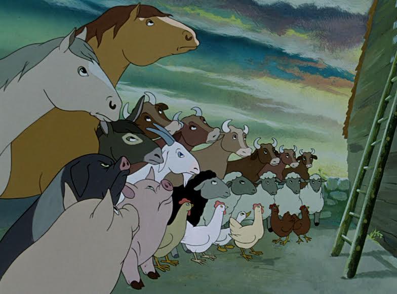 La fattoria degli animali george orwell e un cartone che non lo