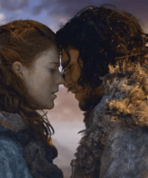 ygritte jon snow game of thrones trono di spade barriera gli amanti tarocchi