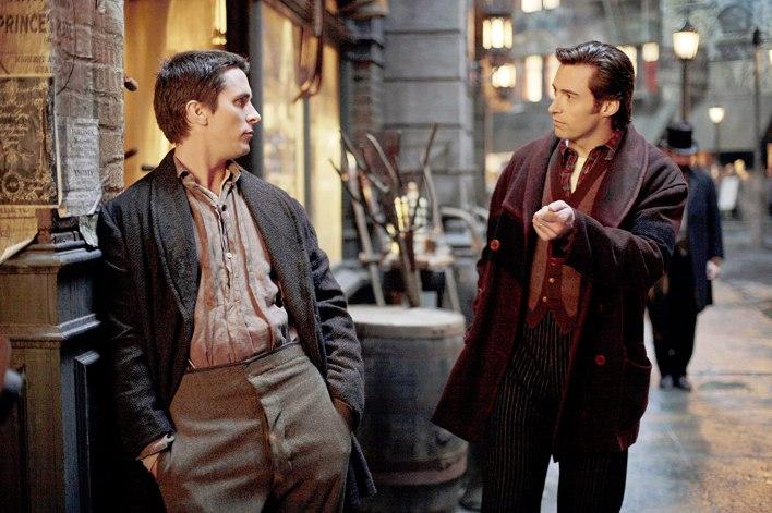 "Christian Bale e Hugh Jackman in ""The Prestige"""