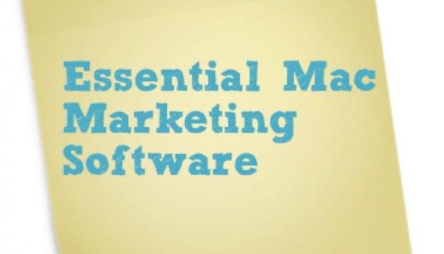 Essential Mac Marketing Software for 2013