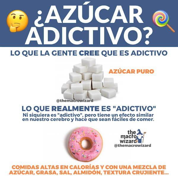 azucar adictivo dieta flexible