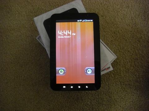 Samsung Galaxy Tab On Home Screen